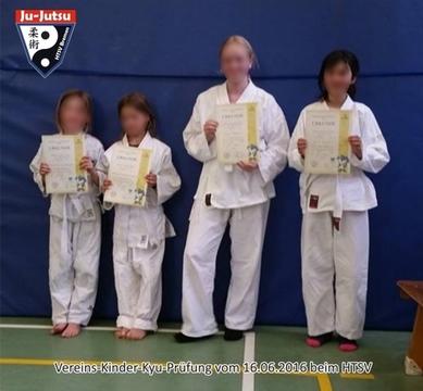 Vereins-Kyu-Prüfung Kinder beim HTSV