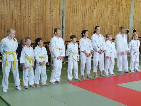 Kinder- und Jugend-Kyu-Prüfung bis 14 Jahre beim ATSV Sebaldsbrück