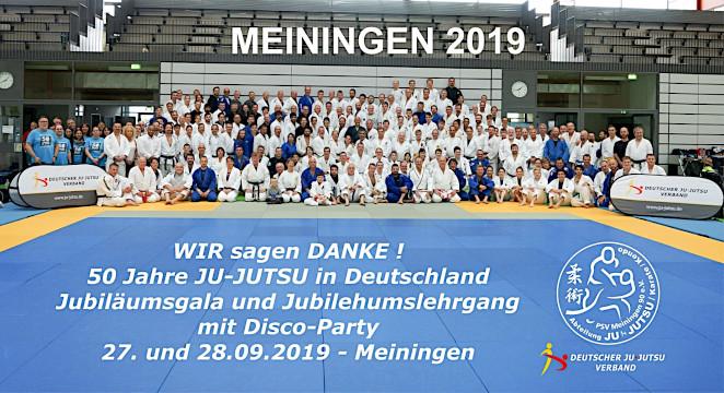 Jubiläumslehrgang: 50 Jahre Ju-Jutsu in Deutschland in Meiningen