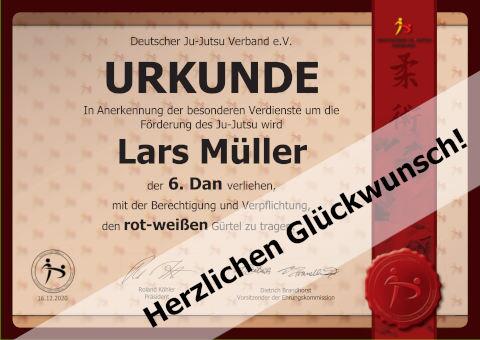 6. Dan für Lars Müller